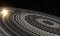 حلقه غول پیکر به دور سیاره فراخورشیدی