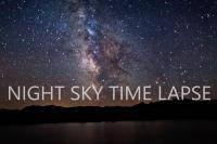 تایم لپس از آسمان شب