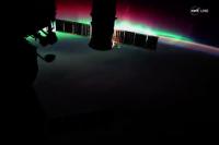 شفق قطبی از دید فضانوردان
